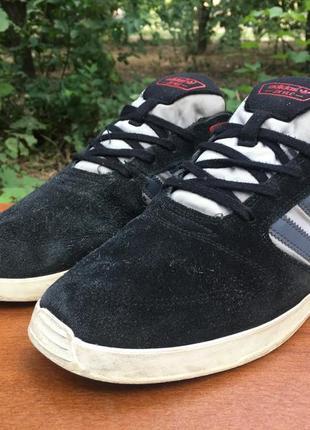 Кроссовки,кеды adidas zx vlc замшевые,черные,легкие р.45 original