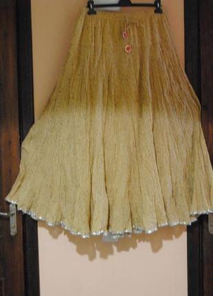 Красивая юбка на резинке батал!