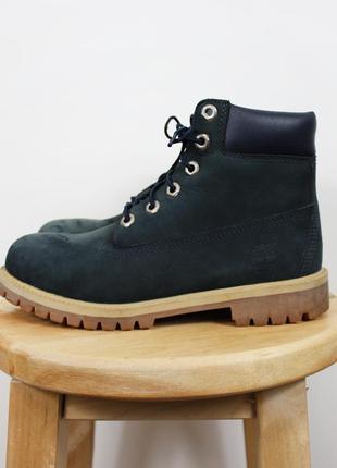Темно-синие кожаные ботинки timberland