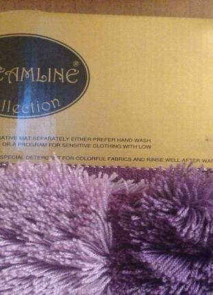 Коврик для ванной фиолетовый
