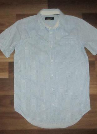 Хорошенькая котоновая рубашечка фирмы ривер айленд на 12 лет