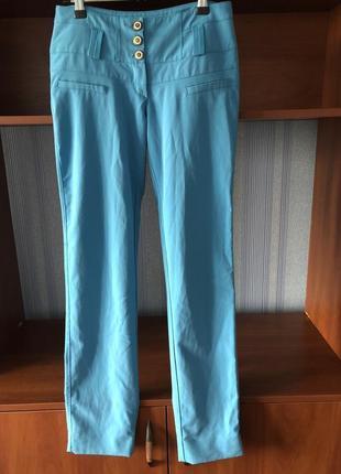 Женские летние голубые брюки