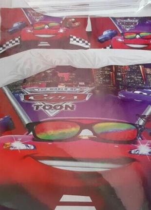 Качественные детские комплекты постельного  белья полуторка, фланель байка