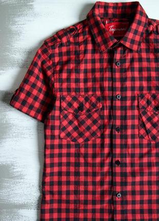 Рубашка в клетку черно-красного цвета от topman