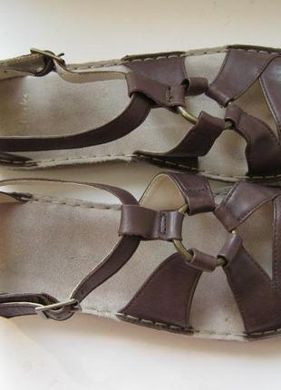 Босоножки clarks, 100% натуральная кожа, размер 41, длина по стельке-26,5см