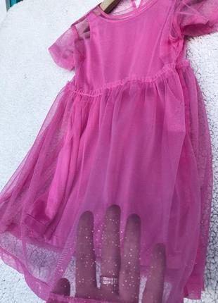 Шикарное платье н&м 3-5 лет2 фото