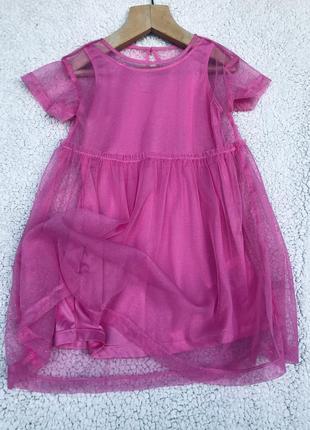 Шикарное платье н&м 3-5 лет9 фото