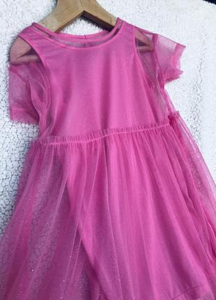 Шикарное платье н&м 3-5 лет4 фото