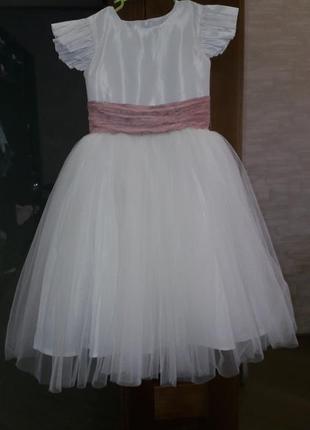 Платье нарядное выпускное фатин 5-6лет