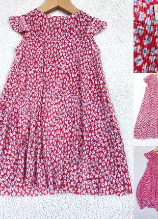 Красивое платье плиссе zara 7 лет