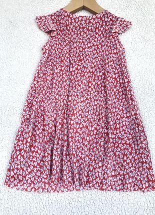 Красивое платье плиссе zara 7 лет5 фото