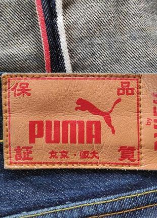 Evisu x puma джинсы селвидж оригинал (w34 l34)
