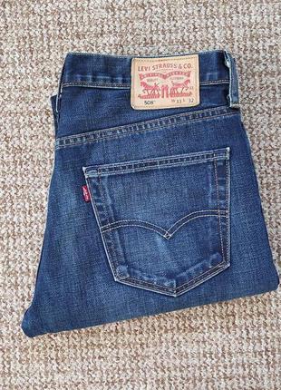 Levi's 508 джинсы regular tapered оригинал (w33 l32) сост.идеал