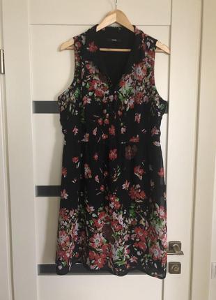 🔥 скидка 🔥 платье в цветочный принт
