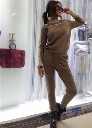 Женский кашемировый костюм4 фото