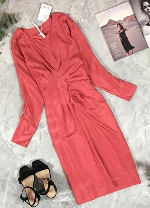 Мегастильное платье с драпировкой  dr1929 studio jux