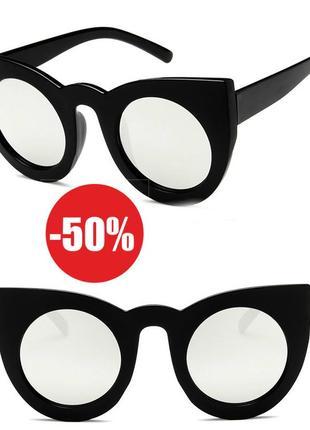 4-13 зеркальные солнцезащитные очки кошечки