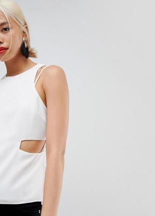 Крутая белая блуза asos 6 (34р)