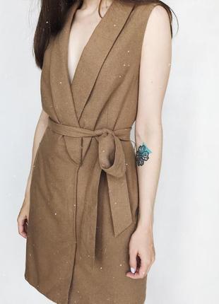 Платье с шерстью