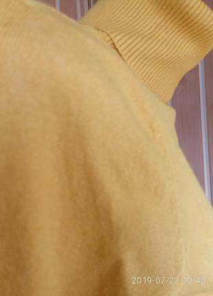 Гольф под горло свитер кашемир шерсть милано горчица цвета9 фото