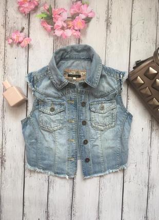 Безрукавка джинс жилетка