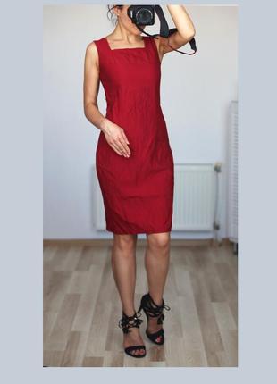 Натуральное,деловое платье футляр/платье в рубчик,классика