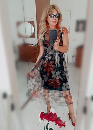 Платье - сетка  тренд из италии3 фото