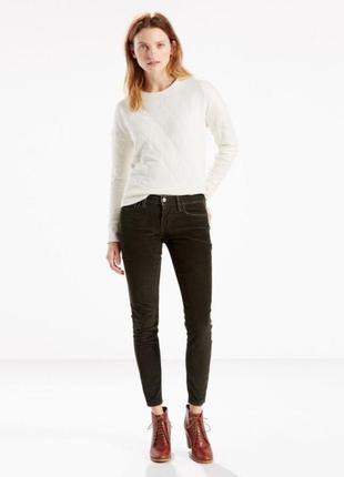 Вельветовые джинсы 710 levi´s, оригинал, 27 размер