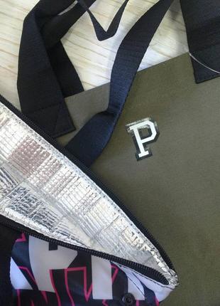 2 в 1 пляжная термо сумка victoria´s secret pink виктоия сикрет, пинк