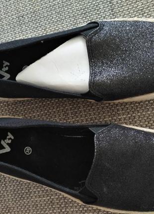 Лоферы-мокасины чёрные