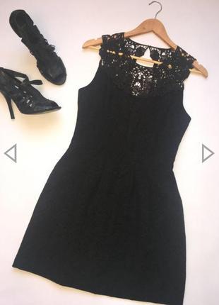 Красивейшее чёрное платье с кружевом