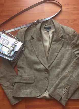 Базовый пиджак / пиджак h&m пиджак в клетку винтажный пиджак
