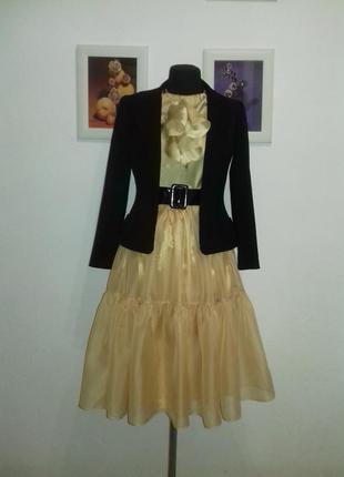 Очень стильная нарядная юбочка из шифон-органзы4 фото