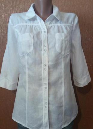 Рубашка льняная  рукав 3/4 размер 10 next