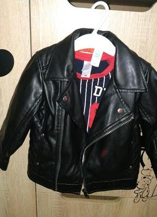Косуха курточка эко кожа baby club