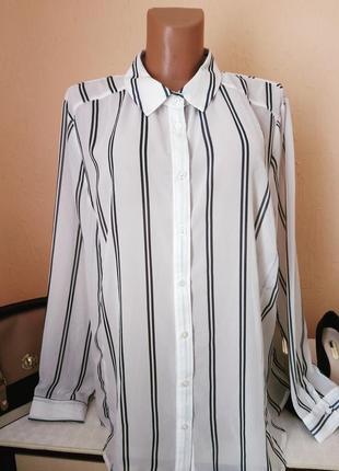 Шифонова блуза -сорочка .