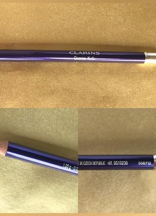 Clarins карандаш для глаз с кистью crayon khol № 10