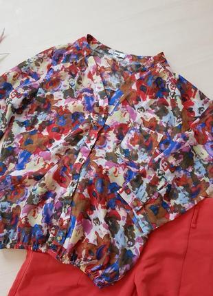 Яркий лук блуза и брюки/костюм кораловые брюки и блуза