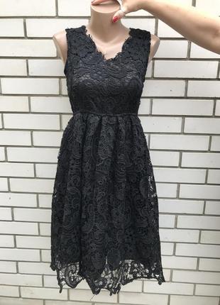 Чёрное,кружевное,вечернее,нарядное платье,сарафан,фатин по краю подкладки