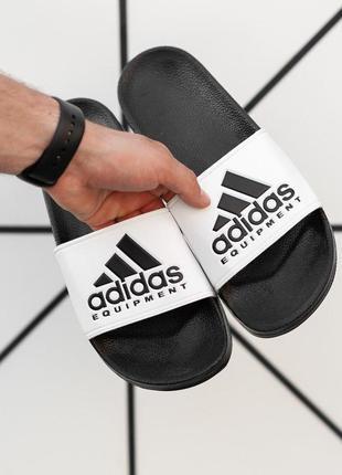 Шлепанцы adidas (шлёпки/ тапки/ тапочки) в белом цвете