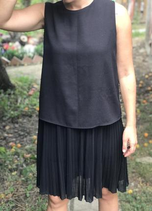 Платье женское mango плисе плиссе черное