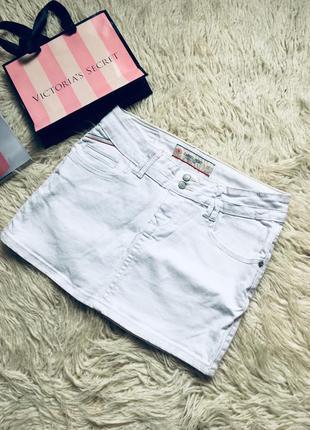 Белая джинсовая юбка  акция! 1+1=3 на всё🎁