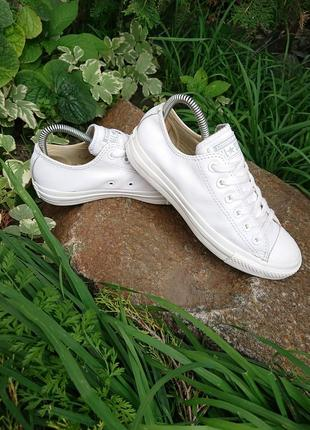 Кеды конверсы converse all star белые кожаные 37,5 р