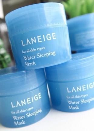 Мини версия ночной маски laneige water sleeping mask 15 мл
