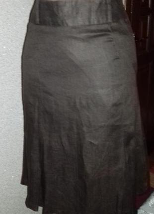 Летняя распродажа  льняная юбка миди