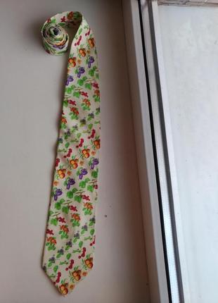 Шелковый галстук gianni versace