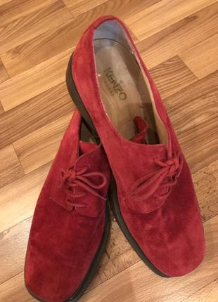 Замшевые туфли kenzo