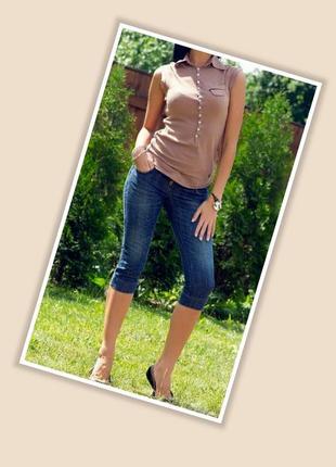 Стильные джинсовые бриджи # капри # удлиненные шорты vogue