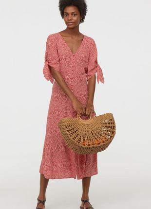 Креповое платье на пуговках h&m