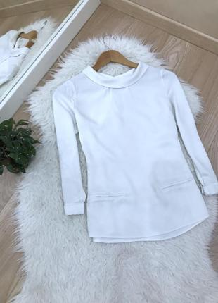 Біла блузка massimo dutti